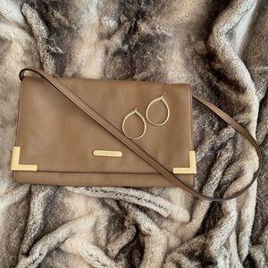 Authentic Michael Kors beige leather shoulder bag